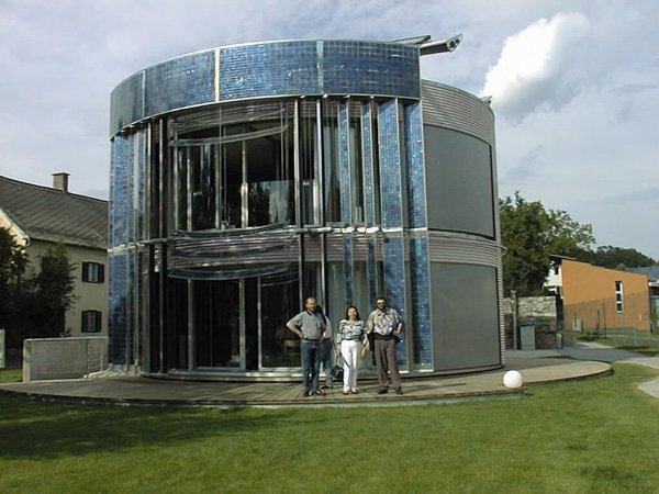 Photo of solar house - styria country exhibition Look as fresh from a SF SciFi Science Fiction film however, was planned in order to help to solve concrete energy problems on the planet earth.