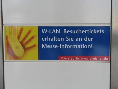WLAN rip of, no thanks! 11.60 EUR for 2 hours. What should somebody do with such an offer on a fair? An offer with time limit to be consumed in one block is senseless.