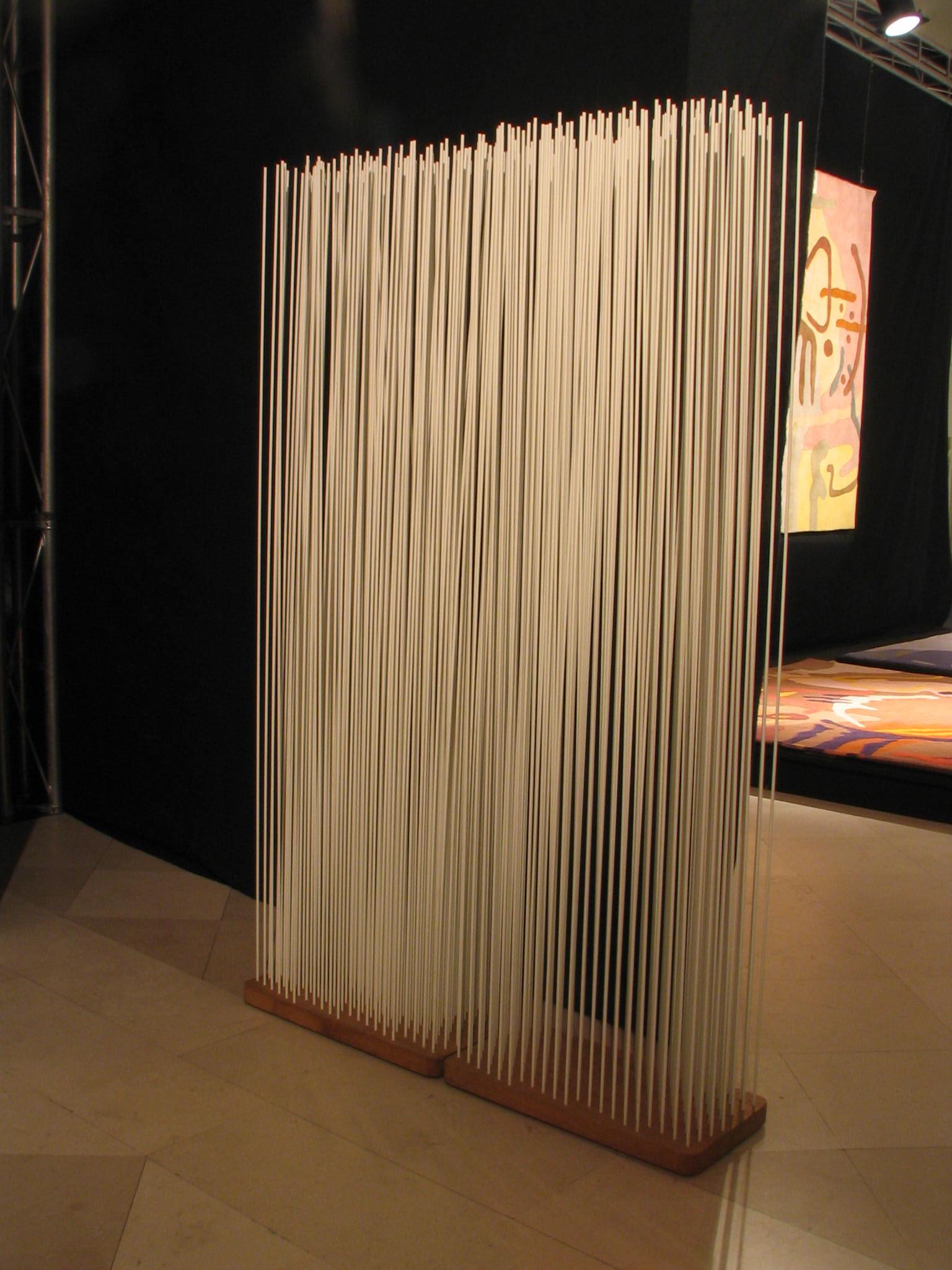 Room divider from fiber glass bars