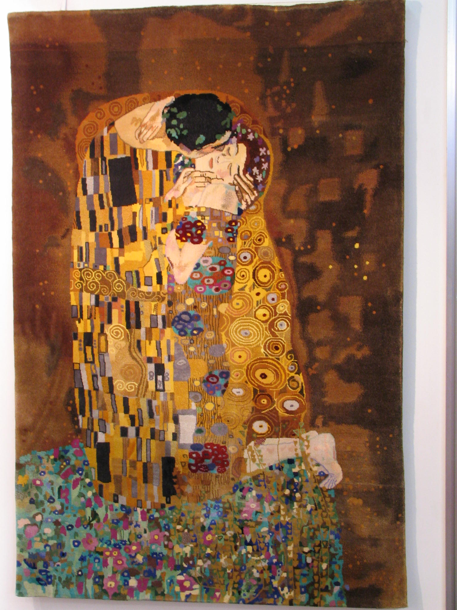 Klimt The Kiss As A Wall Carpet