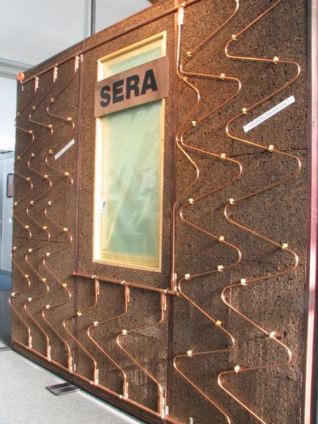 Sera wall heating around window How to detour with a copper pipe wall heating around a window shows SERA on his booth. We already wrote about his house of the passive house pioneer from Salzburg.