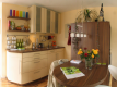 Smart House Wohnzimmer Wohnzimmer mit integrierter Küche im Smart House,