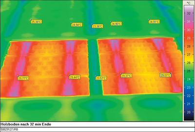 Floor heating Floor heating is not equal to floot heating. A very uniform distribution of the heat makes a very low input temperature possible. Less electric power demand at the heat pump. Picture 2