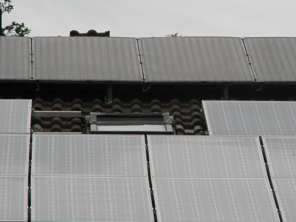 Heat collectors Full with water collector system. For warming up the earth collector is also a low temperature enough. Sometimes also without sun, when the air is warm enough.