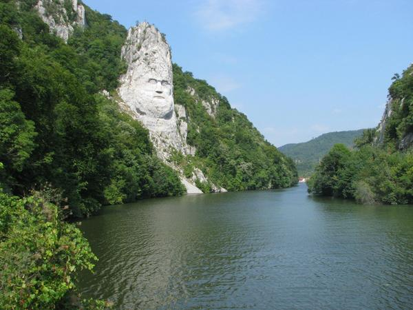 Greatest stone sculpture in Europe The Danube down seen to the left is this 40 m heigh sculpture created in the rock.