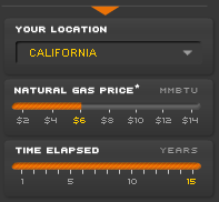 Gas price upper limit Why is it not possible to have in the Applied Materials calculator for photovoltaic factories a higher gas price than $14 MMBTU? This are only 5 Cent per kWh thermical energy.
